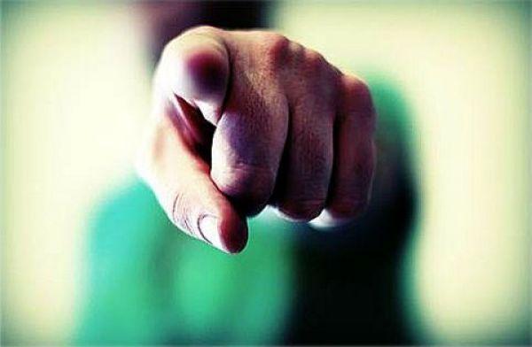 Pointing finger - blame